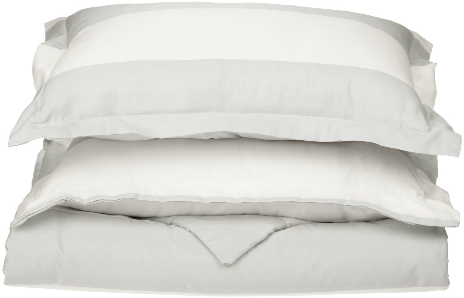 GoLinens: Luxury WHITE Tropical Cabana 600 Thread Count Cotton Wrinkle Free ALL YEAR round Down Alternative Comforter set with ...